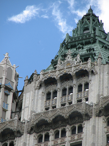 Woolworth Building Was Constructed In Neo-gothic Style By Architect Cass Gilbert