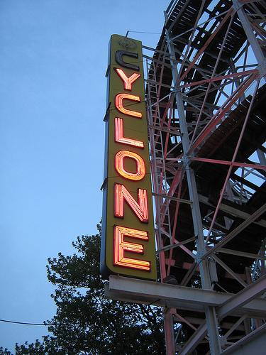 Ready For A Roller Coaster Ride At The Coney Island Cyclone?