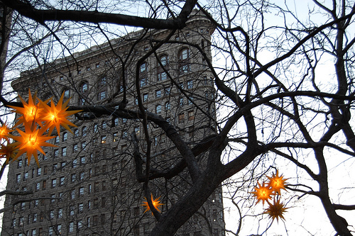 Flatiron Building, Its Limestone And Glazed Terra-cotta Facade Is Divided Into A Base, Shaft And Capital