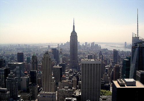 The Empire State Building Is A 102-story Landmark Art Deco Skyscraper In New York City.
