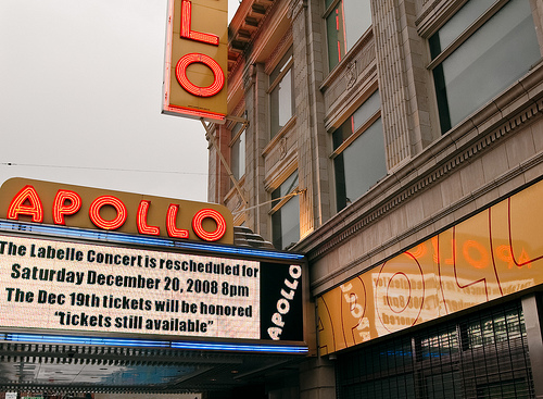 Marquee Of The Historic Apollo Theater On 125th Street In Harlem