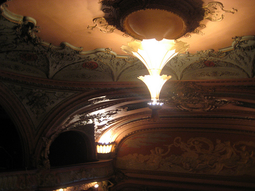 Unusual Ceiling Inside The Apollo Theater
