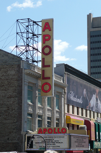 The Historic Apollo Theater On 125th Street On Manhattan