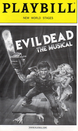 Audio Of Playbill  Evil Dead The Musical Broadway Theatre