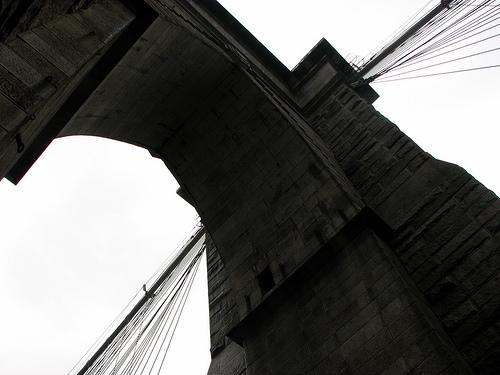 Walking The Brooklyn Bridge To The Telectroscope, June 2008