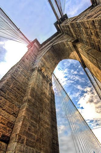 A Movie Like Look Up At The Brooklyn Bridge.