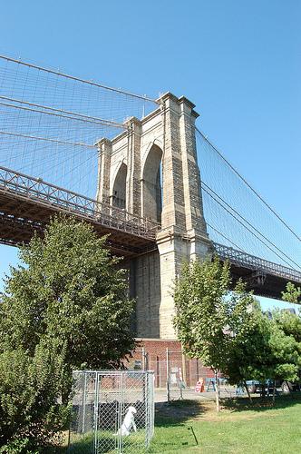 Brooklyn Bridge Seen From The Brooklyn Side, Completed 1883