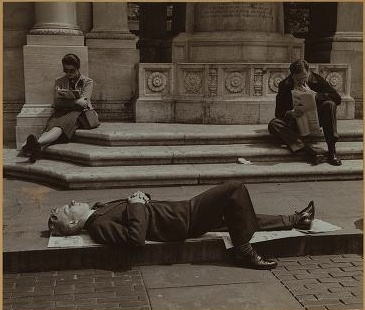 Lounging New Yorkers Enjoying The Sun, Bryant Park Ca.1941