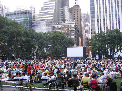 The Bryant Park Summer Film Festival Every Monday On The Great Lawn.