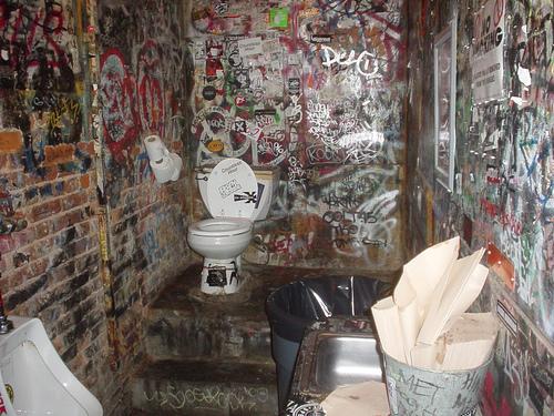 Graffitied Bathroom Of The Now Defunct Venue, CBGB