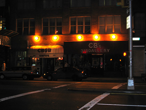 Outside Of CBGB's, Now Defunct, At Night