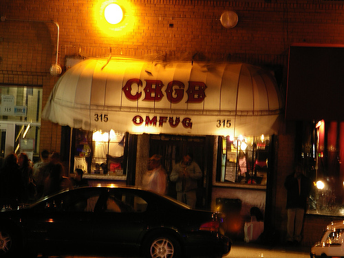 Entrance To The Famous Club CBGB