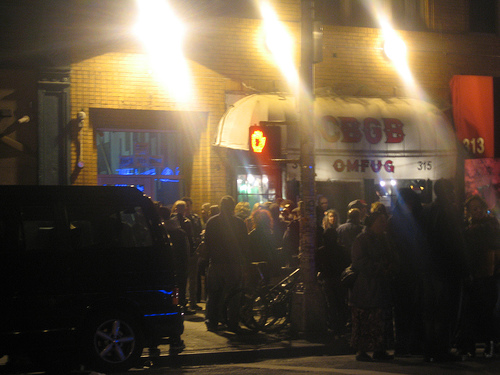 Many People Gathering And Having A Chat At CBGB