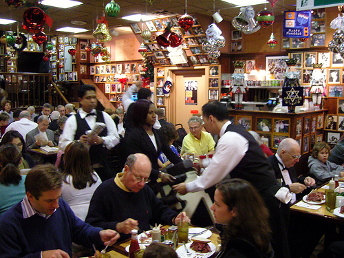 Patrons At The Famous Carnegie Deli On 7th Avenue In Midtown Manhattan.