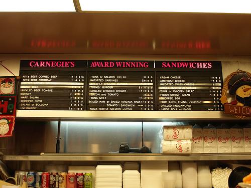 Carnegie Deli Has Award Winning Sandwiches
