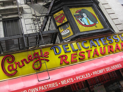 Not A Better Place Than Carnegie Deli To Get A Great Sandwich.