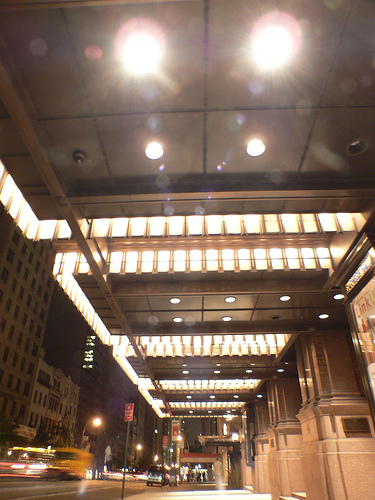 Walking Past The Lights Of Carnegie Hall At Night