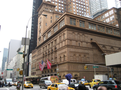 Heavy Traffic Was Blocked Road Before Carnegie Hall