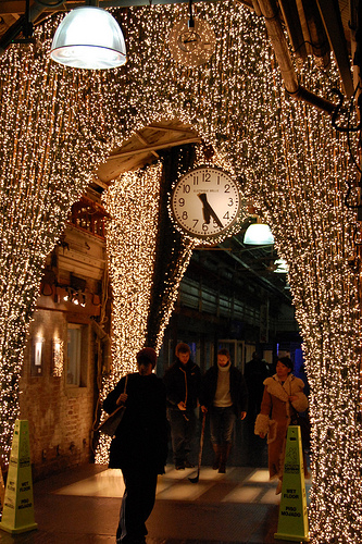 Take A Walk Through The Beautifully Lit Up Chelsea Market.