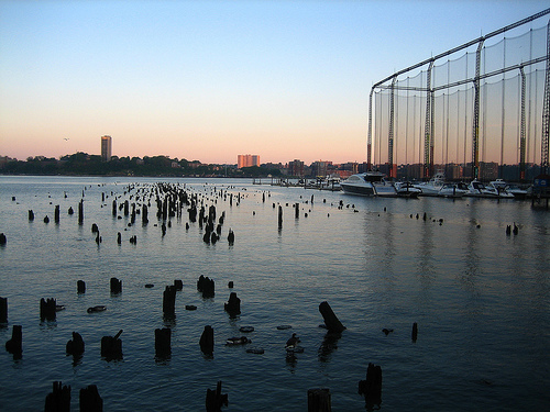 A Beautiful Evening Spot At The Harbor Of Chelsea Piers.