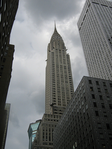 Chrysler Building View Is Taken When Clouds Appeared