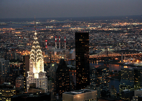 The 1,047 Foot Chrysler Building Looks Beautiful Every Night When The Lights Go On.