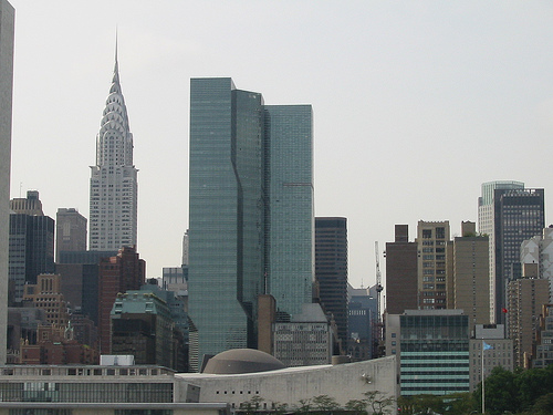 A View Of The Chrysler Building On An Overcast Day.
