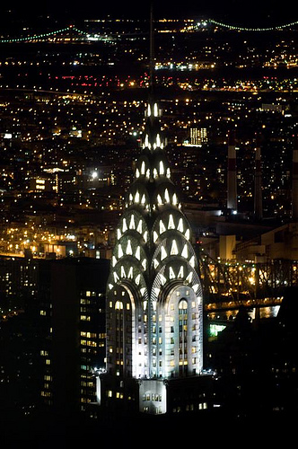The Chrysler Building Is A Glowing Sight At Night