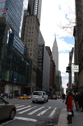 The Way No Turns On Road Chrysler Building
