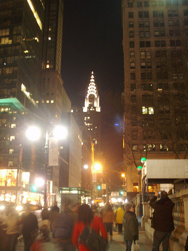 The Dramatic Lighting At The Top Of The Chrysler Building Make It Unmistakable At Night.