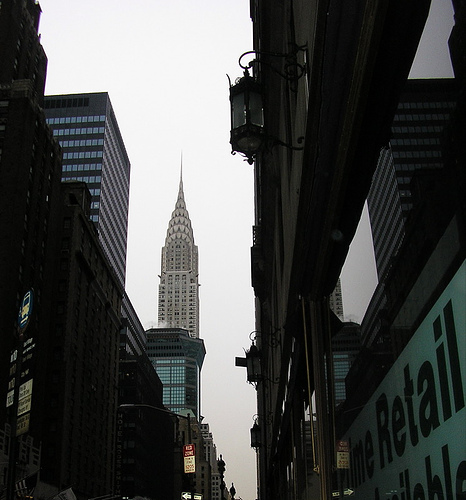 A View Of The Chrysler Building, The Third Tallest Building In New York