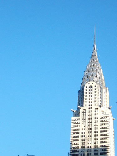 Vertical View Of The Chrysler Building, A Stunning Example Of Art Deco Architecture