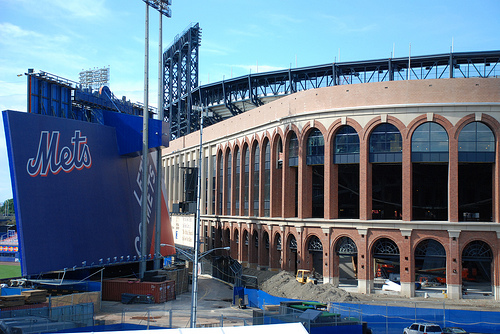 View Of Citi Field Under Construction In Summer 2008