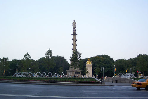 Columbus Circle, Named After Christopher Columbus, A Landmark In The New York City