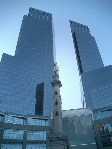 Time Warner's World Headquarters In Columbus Circle.