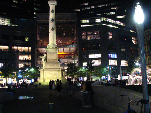 Columbus Circle Founded In 1892 Is A Must See Sight At Night.