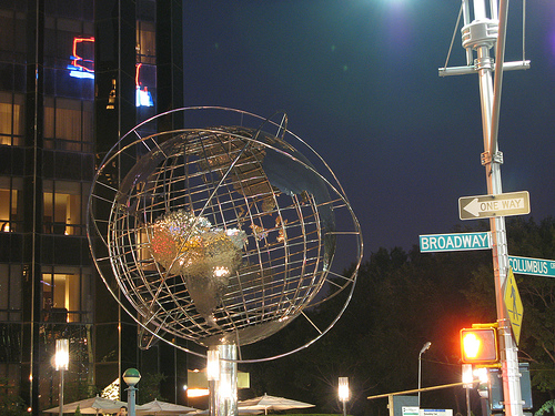 The Globe In Front Of Trump Tower In Columbus Circle