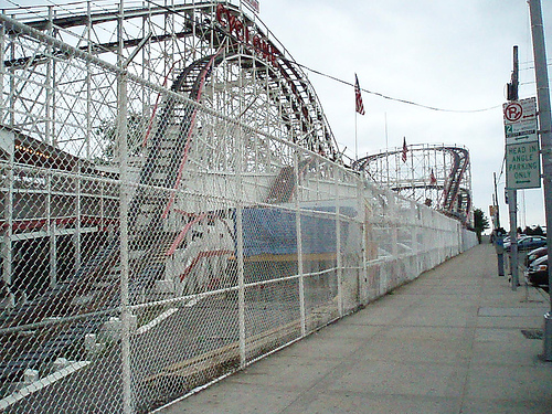 Many Thrill Seekers Will Enjoy A Ride On The Famous Wooden Coney Island Cyclone.