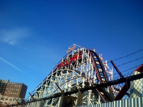 A Side View Of Coney Island Cyclone