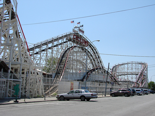 The Coney Island Cyclone The Over 80 Year Old Wooden Rollercoaster