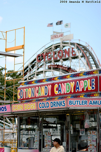 What Better Place To Get Some Cotton Candy And Then Go Ride The Coney Island Cyclone.