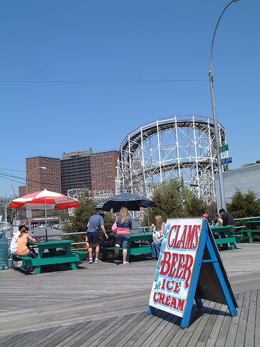 Coney Island Cyclone From The Boardwalk