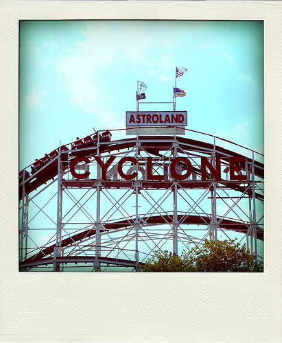 A Perfect Day To Ride The Legendary Coney Island Cyclone.