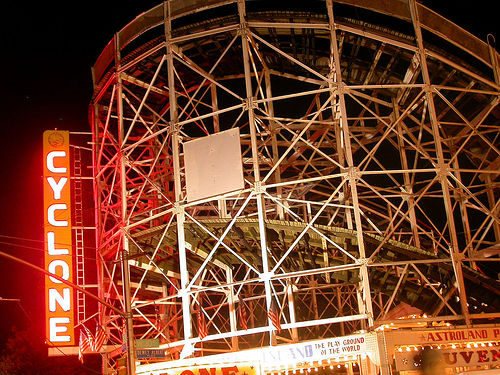 The Cyclone Lighting Board Is The Most Famous Attraction In All Of Coney Island