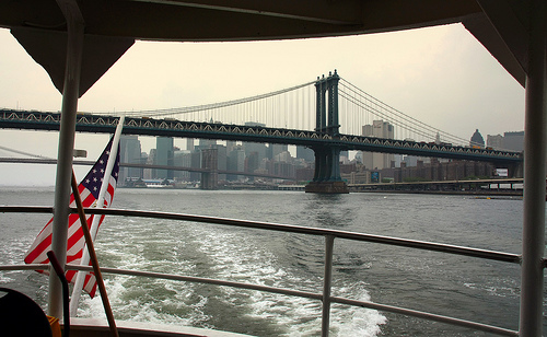 A Picture Taken From A Ferry On The East River
