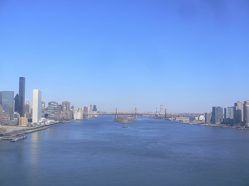 East River View On A Winter Morning