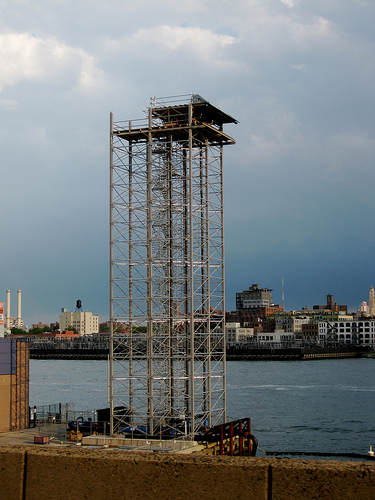 A Tower Built On The Pier At The East River