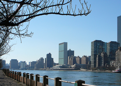 The East River, Separating Long Island, Queens And Brooklyn From Manhattan