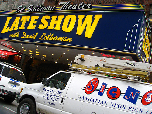 The Famous Ed Sullivan Theater Where Letterman Records His Show