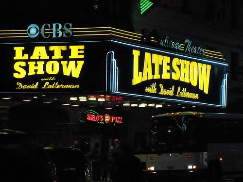 Check Out The Late Show Here At The Ed Sullivan Theater.